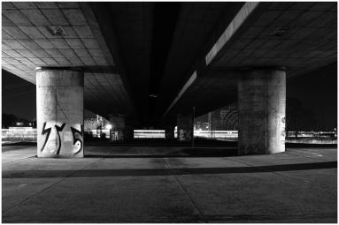 "Sven Jankowski ""Hochbrücke bei Nacht III"""